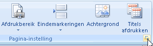 Open afdrukinstellingen in Excel