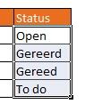 Keuzelijst in Excel