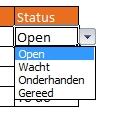 Dropdown menu in Excel