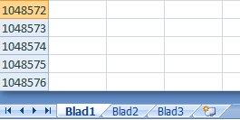 Excel maximaal aantal regels