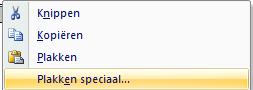Plakken speciaal in Excel