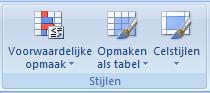 Voorwaardelijke opmaak in Excel