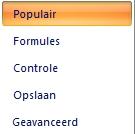 Keuze populair in Excel