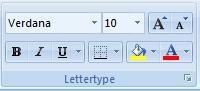 Standaard lettertype Excel laatste stap