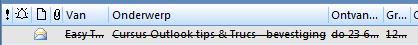 verlopen mail wordt doorgestreept