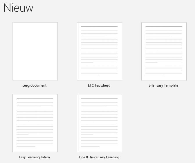 Leeg document in Word