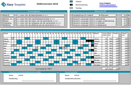 Ziekteverzuim Excel