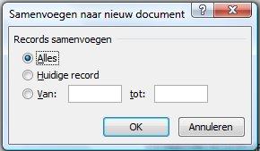 Samenvoegen naar nieuw document