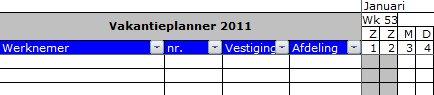 Titels blokkeren in Excel