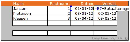 Excel formule waarde uit ander werkblad