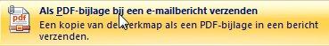 Bijlage als PDF toevoegen aan mail
